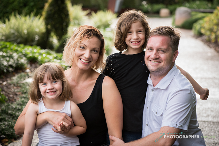 Family Portrait Photography at Roma Street Parklands